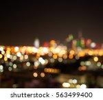 Blurred Night City Lights Dubai