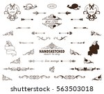 vector set of calligraphic... | Shutterstock .eps vector #563503018