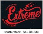 vintage vector of wilderness... | Shutterstock .eps vector #563508733