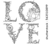 word love made of letters of... | Shutterstock .eps vector #563510899