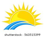 logo sun and sea.  | Shutterstock .eps vector #563515399