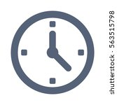 clock icon  vector flat design... | Shutterstock .eps vector #563515798