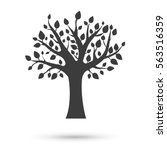 tree icon. flat vector... | Shutterstock .eps vector #563516359