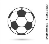 soccer ball icon. flat vector... | Shutterstock .eps vector #563516500
