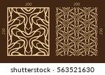 laser cutting set. woodcut... | Shutterstock .eps vector #563521630