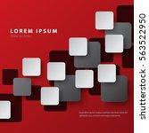 digital squares modern graphic... | Shutterstock .eps vector #563522950