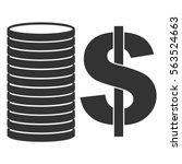 vector illustration with black... | Shutterstock .eps vector #563524663