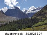 the ice shelf in mountains | Shutterstock . vector #563525929