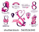 vector illustration of set 8... | Shutterstock .eps vector #563526340