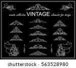 vector set of calligraphic... | Shutterstock .eps vector #563528980