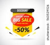 big sale banner. vector... | Shutterstock .eps vector #563529526