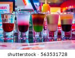 5 shots with a drink stand in a ... | Shutterstock . vector #563531728