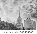 black and white view of midtown ... | Shutterstock . vector #563533360