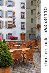 restaurant outdoor table | Shutterstock . vector #563534110