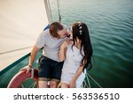 young beautiful married couple... | Shutterstock . vector #563536510
