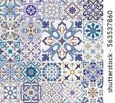 big vector set of tiles...   Shutterstock .eps vector #563537860
