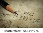 macro of a old yellowed paper... | Shutterstock . vector #563544976