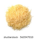 top view of grated cheese... | Shutterstock . vector #563547010
