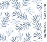 watercolor seamless pattern... | Shutterstock . vector #563547070