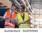 inspection at commercial... | Shutterstock . vector #563554540