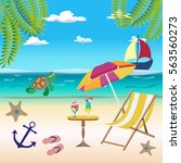sea background  sea  beach ... | Shutterstock .eps vector #563560273