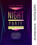 vertical music party poster... | Shutterstock .eps vector #563562694