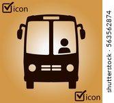 bus icon. schoolbus symbol.... | Shutterstock .eps vector #563562874