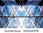 transparent glass walls. modern ...   Shutterstock . vector #563564596