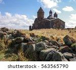medieval armenian monastery... | Shutterstock . vector #563565790