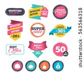 sale stickers  online shopping. ... | Shutterstock . vector #563566318