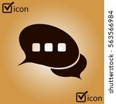 chat flat icon.badge discussion ...