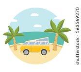 summer tropical beach landscape ... | Shutterstock .eps vector #563569270
