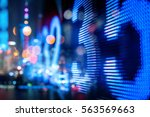 stock index numbers with city... | Shutterstock . vector #563569663