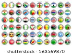 set of icons. flags of the... | Shutterstock .eps vector #563569870