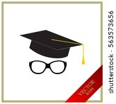 glasses with a cap  vector ... | Shutterstock .eps vector #563573656