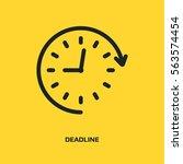 clock with arrow vector icon.... | Shutterstock .eps vector #563574454