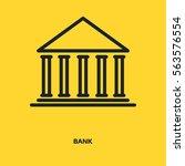 bank sign line vector icon.... | Shutterstock .eps vector #563576554