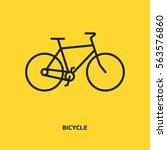 bicycle vector icon. healthy... | Shutterstock .eps vector #563576860