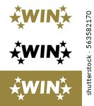 vector win icon set | Shutterstock .eps vector #563582170