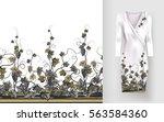 vector seamless pattern of... | Shutterstock .eps vector #563584360