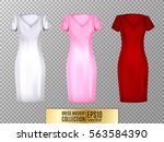 women's dress mockup collection.... | Shutterstock .eps vector #563584390