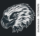 eagle head logo template  hawk... | Shutterstock .eps vector #563584696