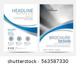 brochure template flyer design... | Shutterstock .eps vector #563587330