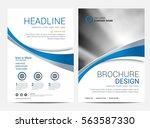 brochure template flyer design... | Shutterstock .eps vector #563587330