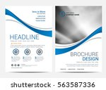 brochure template flyer design... | Shutterstock .eps vector #563587336