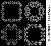 set square ornamental... | Shutterstock .eps vector #563592214