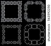 set square ornamental... | Shutterstock .eps vector #563592250