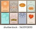 wedding invitation card or... | Shutterstock .eps vector #563592850