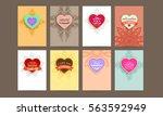 wedding invitation card or... | Shutterstock .eps vector #563592949