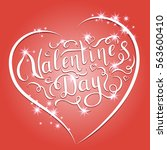 happy valentines day... | Shutterstock .eps vector #563600410
